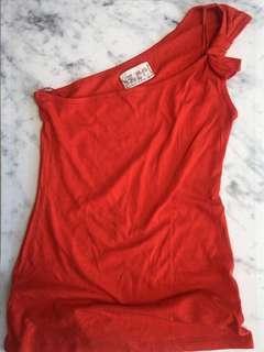 Zara One Shoulder Top