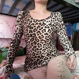 Tiger print top (stretchable)