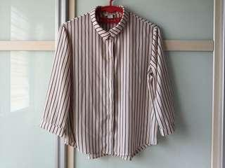 Monki Stripe Blouse