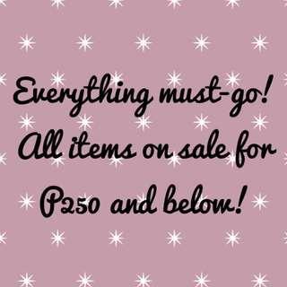 Sale at 250 and below!
