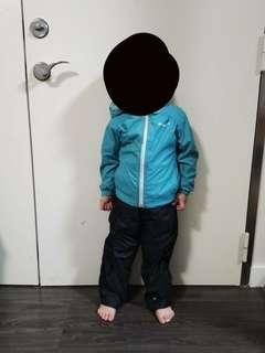 🚚 Columbia 兒童雨衣雨褲 防水防雨