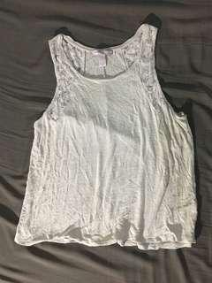 Forever21 Lace-detail Sleeveless top