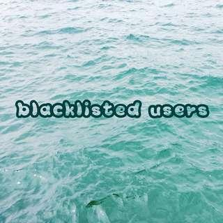 blacklisted users