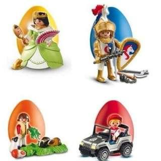 全新 PLAYMOBIL EASTER EGG PRINCESS QUEEN GOLDEN KNIGHT KID SET 公主武士小孩金青蛙復活蛋
