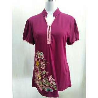 Slim fit blouse (mauve)