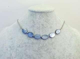 Blue Ocean Shell Choker Necklace