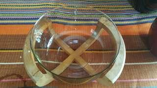 Glass bowl and stand