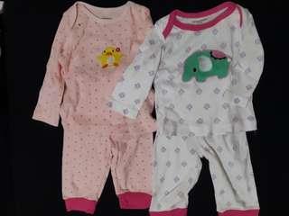2 sets Carter's Baby Pajamas Terno