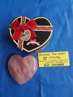VALENTINE PINK HEART CRYSTAL with box