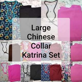 SIZE: LARGE CHINESE COLLAR WITH KATRINA PANTS SET