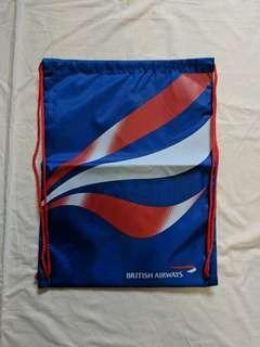🚚 British Airways Drawstring Bag