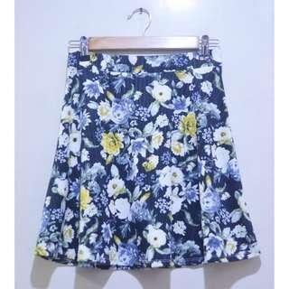 H&M Flowy Floral Skater Skirt