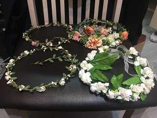 Prewedding Big day 婚紗攝影 結婚 大日子 頭飾 花環 頭環 花飾