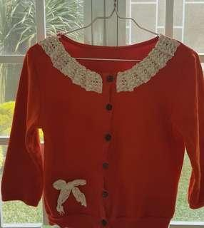 Korean Design Orange Outerwear