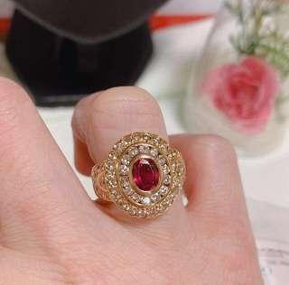 18K Gold Ruby