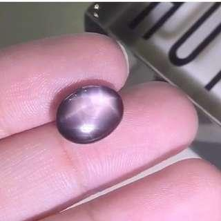 BROWN / BLACK STAR SAPPHIRE OVAL CABOCHON 4.60CT, BLACK GEMSTONES