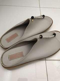 Proudly Shoes Grey Slip On Sandals