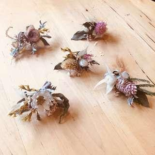 Artistic Dried And Preserved Flower Rings Jewellery Ornament