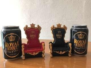 Vintage Black & Red Royal Throne