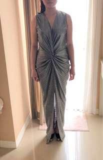 NBU Silver Long Dress