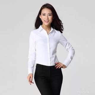 Formal presentation white blouse Long sleeve
