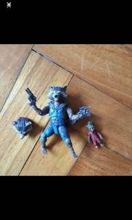 Guardians of the galaxy rocket raccoon and baby groot