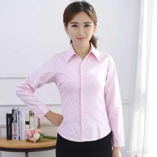 Pink formal Long sleeve blouse presentation