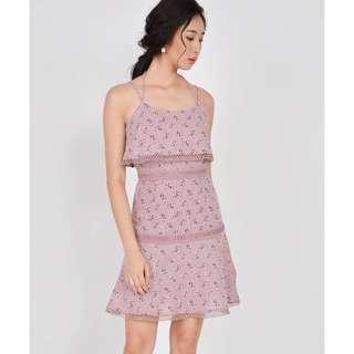 HVV Devon Tiered Floral Dress - Dust Pink
