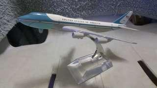 United States Of America Airlines B-747 Model Display Miniature Diecast *detailed *beautiful *flight collectors