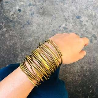 Simple Thin Brass Bangle