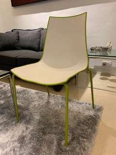 4 Italian Pedrali Design dining chairs