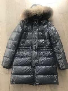 Moncler dark navy coat