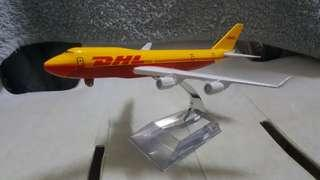 DHL Airlines B-747 400 Model Display Miniature Diecast *detailed *beautiful *flight collectors