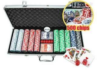 [BNIB] Poker Chip Set 500 Chips