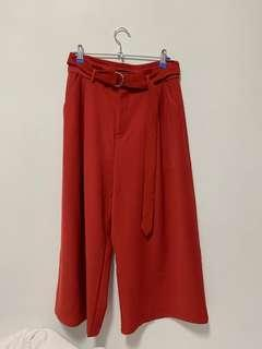 🚚 TCL burnt orange D ring culottes