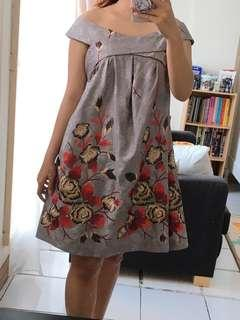 Grey jacquard dress