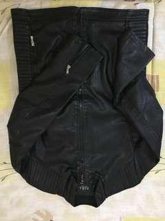 Zara leather jacket auth