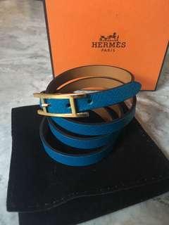 Hermes Hapi Triple Tour Bracelet