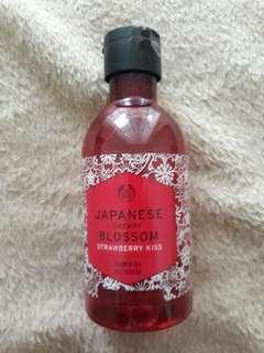 Japanese Cherry Blossom Strawberry Kiss Shower Gel The Body Shop