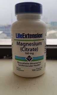 LIFE EXTENSION, MAGNESIUM (CITRATE) 160 MG, 100 VEGE CAPSULES