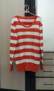 sweater orange stripes