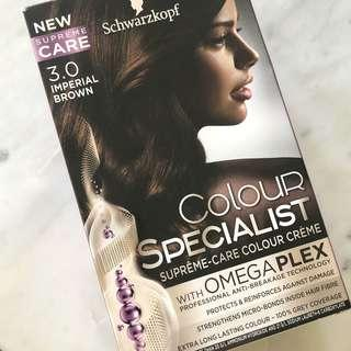 BRAND NEW SCHWARZKOPF COLOUR SPECIALIST 3.0 IMPERIAL BROWN