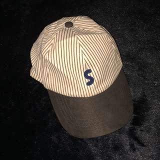 Brown S cap