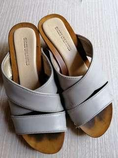 Gray Wedge Sandals For Kids