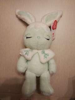 兔仔公仔(薄荷綠色)全新
