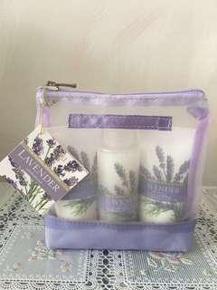 全新Marks & Spencer Lavender Moisture Hand and Body Lotion Bath Cream Set馬莎薰衣草沐浴保濕身體手部乳液旅行套裝