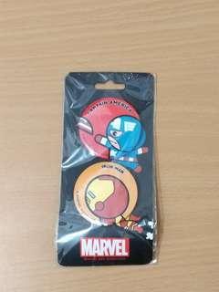 Marvel襟章 美國隊長 鋼鐵人