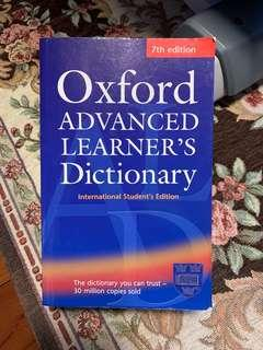 Oxford Advanced Learner's Dictionary (International Student's Edition) 7th edition Very good condition