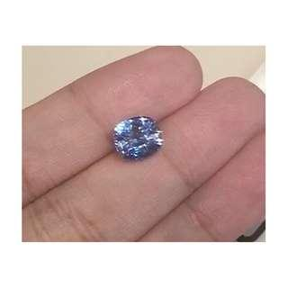 BLUE SAPPHIRE EMERALD CUSHION UNHEATED 3.01CT Rare, Special Sapphires, Natural No Treatment, Blue Gemstones, With Certificate