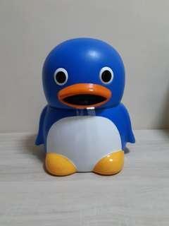 元祖冷風機。企鵝造型。放冰,吹凉風。
